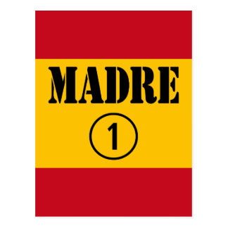 Spanish Speaking Mothers & Moms : Madre Numero Uno Post Card