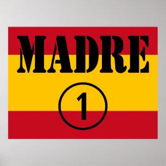 Spanish Speaking Mothers Moms Madre Numero Uno Print