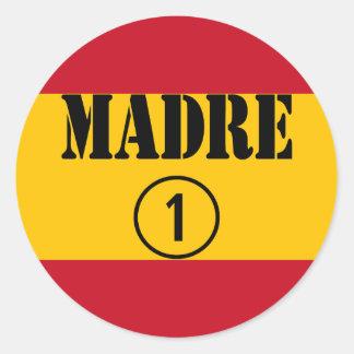 Spanish Speaking Mothers Moms Madre Numero Uno Stickers