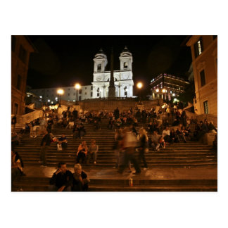 Spanish Steps by Night Postcard