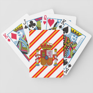 Spanish stripes flag bicycle playing cards