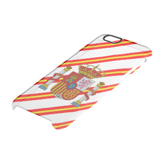 Spanish stripes flag clear iPhone 6/6S case