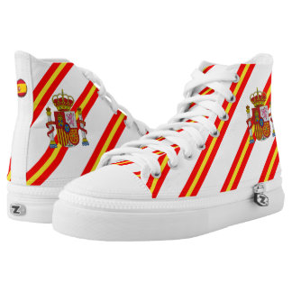Spanish stripes flag high tops