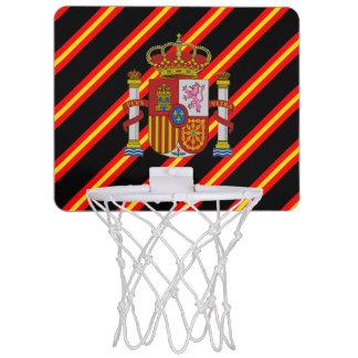 Spanish stripes flag mini basketball hoop