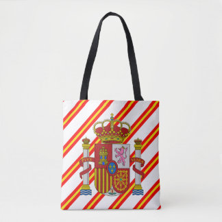 Spanish stripes flag tote bag