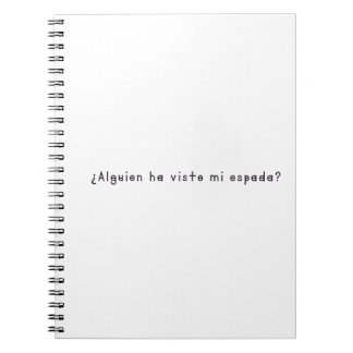 Spanish-Sword Notebook