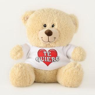 Spanish Te Quiero I Love You Red Heart Teddy Bear