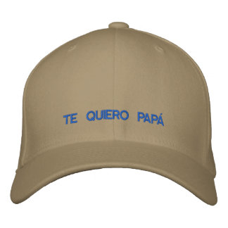Spanish  Te Quiero Papa Embroidered Cap Embroidered Hat