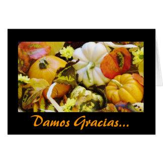 Spanish: Thanksgiving/ Dar Gracias Greeting Card