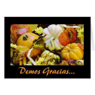 Spanish: Thanksgiving / Dar Gracias Greeting Card
