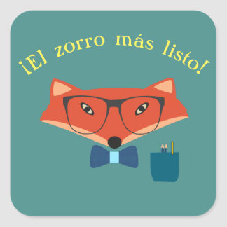 "Spanish ""The Cleverest Fox!"" Sticker"