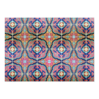 Spanish Tile Floret - Orange and Blue Cards