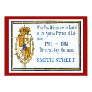 Spanish Tile Mural, Edit Name 13 Cm X 18 Cm Invitation Card