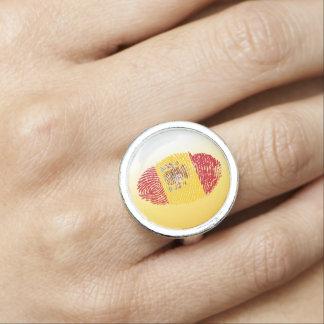 Spanish touch fingerprint flag