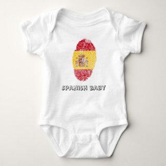 Spanish touch fingerprint flag baby bodysuit