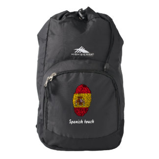 Spanish touch fingerprint flag backpack