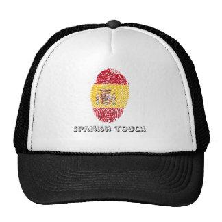 Spanish touch fingerprint flag cap