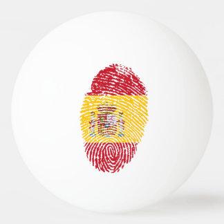 Spanish touch fingerprint flag ping pong ball