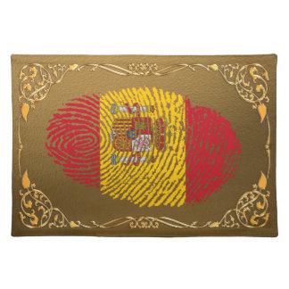Spanish touch fingerprint flag placemats