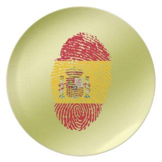 Spanish touch fingerprint flag plate