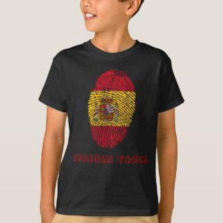 Spanish touch fingerprint flag T-Shirt