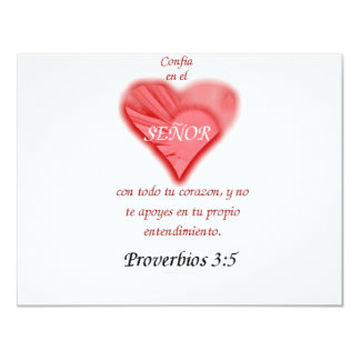 Spanish  Trust in the Lord 11 Cm X 14 Cm Invitation Card