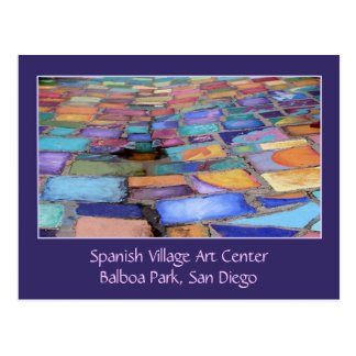 Spanish Village Art Center, Balboa Park, San Diego Postcard