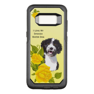 Spanish Water Dog and Yellow Roses OtterBox Commuter Samsung Galaxy S8 Case