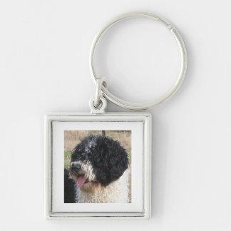 Spanish Water Dog b/w.png Key Ring
