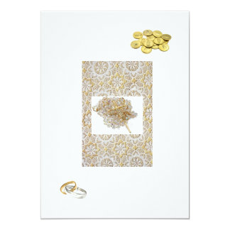 "Spanish Wedding Invitation ""Gold Bands & Coins"""