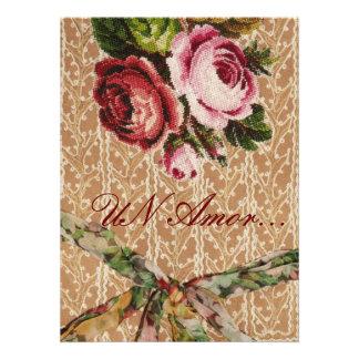 "Spanish Wedding Invitation"" Tapestry & Roses"""