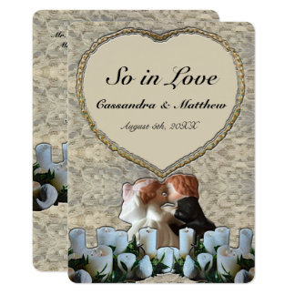 Spanish White Bride & Groom Wedding Card