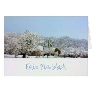 spanish winter wonderland merry x mas card