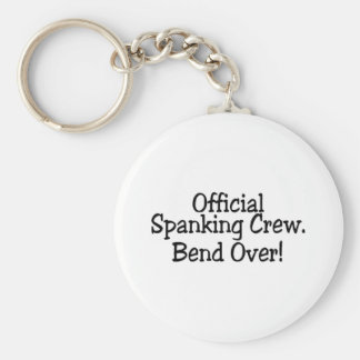 Spanking Crew Bend Over Basic Round Button Key Ring
