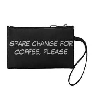 Spare Change for Coffee Please Coin Purse