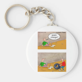 Spare Change: Offbeat Funny Cartoon Gifts & Tees Basic Round Button Key Ring
