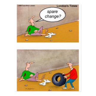 Spare Change: Offbeat Funny Cartoon Gifts & Tees Postcard