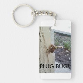 Spark plug bug! Single-Sided rectangular acrylic key ring