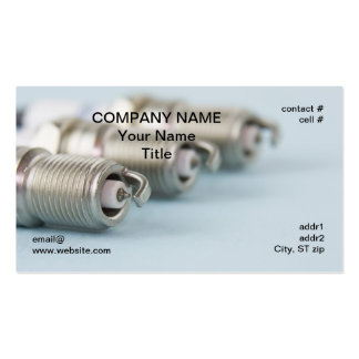 spark plugs closeup pack of standard business cards