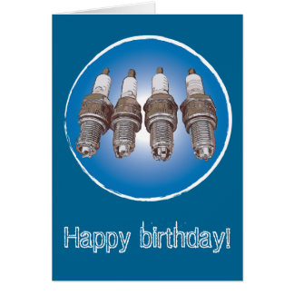 Spark plugs of the engine card