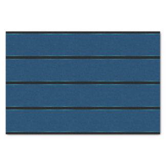 Sparking Metallic Thick Blue Stripes Tissue Paper