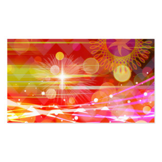 Sparkle and Shine Chevron Light Rays Abstract Pack Of Standard Business Cards