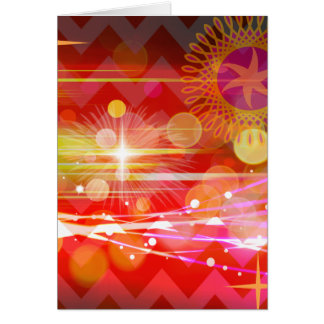 Sparkle and Shine Chevron Light Rays Abstract Greeting Card