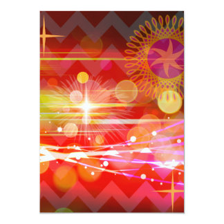 Sparkle and Shine Chevron Light Rays Abstract 5x7 Paper Invitation Card