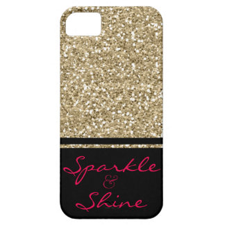 Sparkle and Shine Faux Glitter Case For The iPhone 5