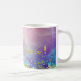 Sparkle and Shine Gold Sparkle Watercolour Mug