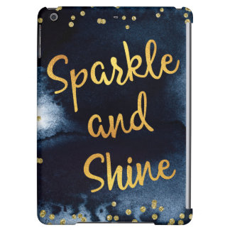 Sparkle And Shine Gold & Watercolor Typography Art