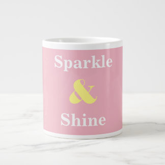 Sparkle and Shine pink and yellow mug