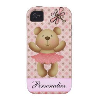 Sparkle Ballerina Bear & Dragonfly iPhone 4 Case