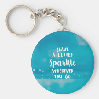 Sparkle Basic Round Button Key Ring